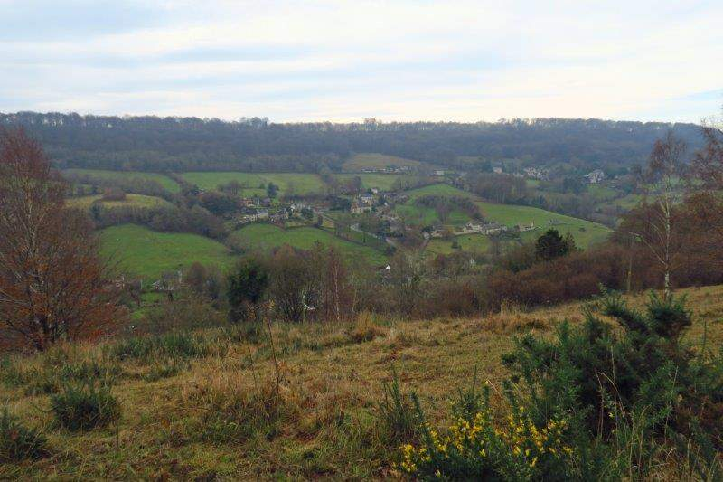 Where we have views over the village
