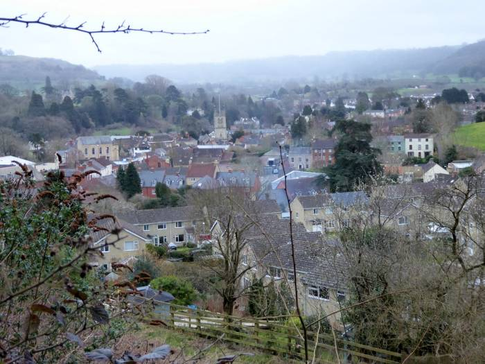 Views back over Dursley