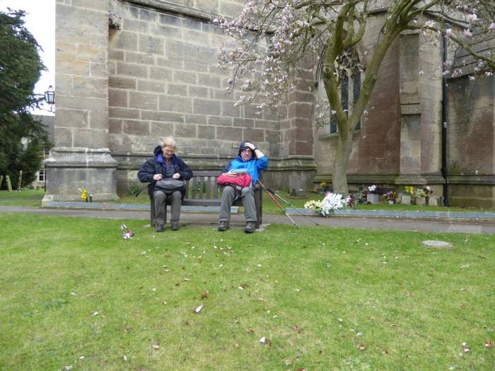 A breezy picnic outside St Georges