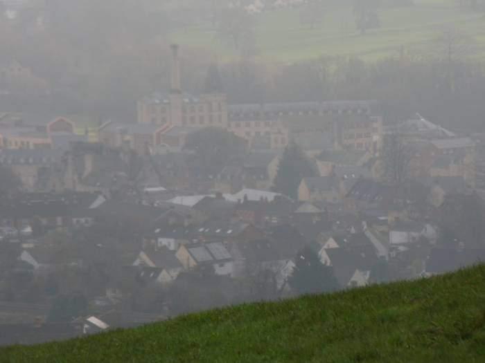Ebley Mill still in a haze