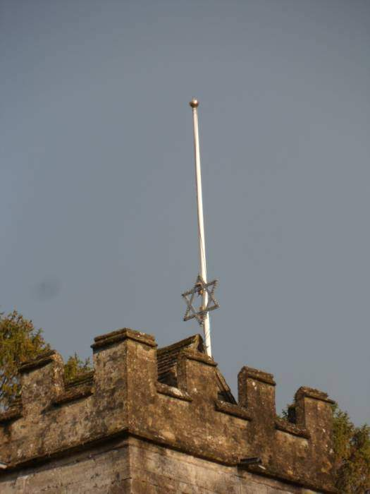 Catch a falling star (from St. John's in Randwick) - or maybe it's being taken down for Twelfth Night