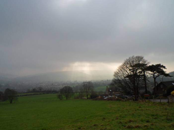 Light over Selsley Common
