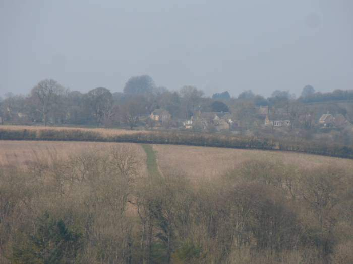 Looking back to Brimpsfield where we started