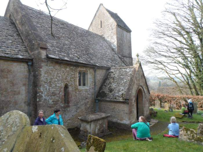 Coffee in Syde churchyard