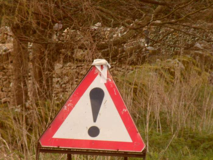 Not sure what the hazard is but it warrants a very large exclamation mark!
