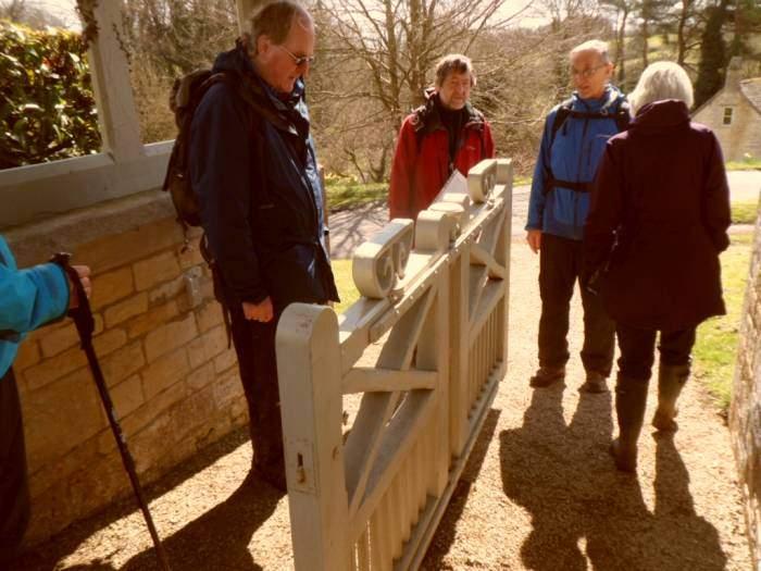 We consider the strange gate, designed to make room for coffins