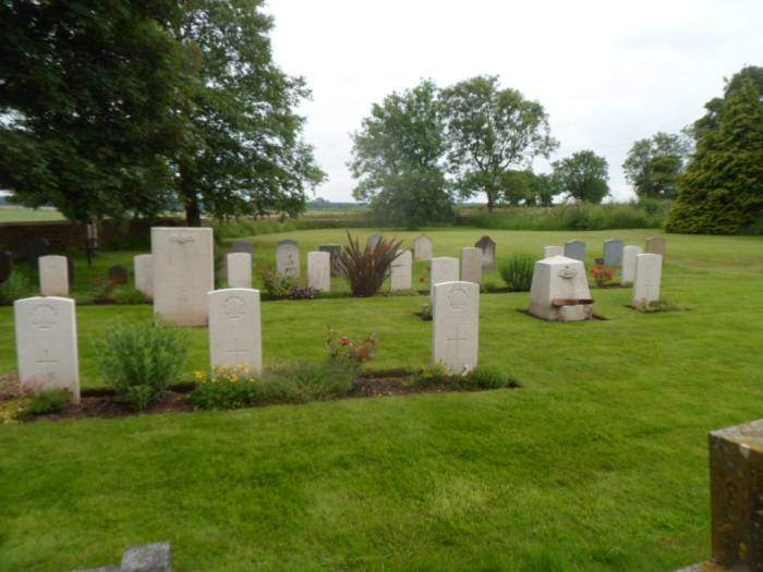 We pause in the cemetery in Leighterton, where the Australian pilots are buried