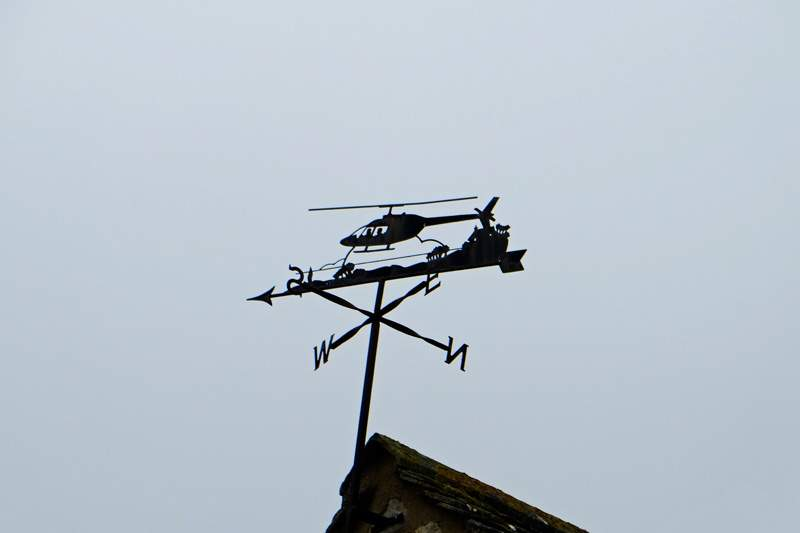 A detailed weathervane