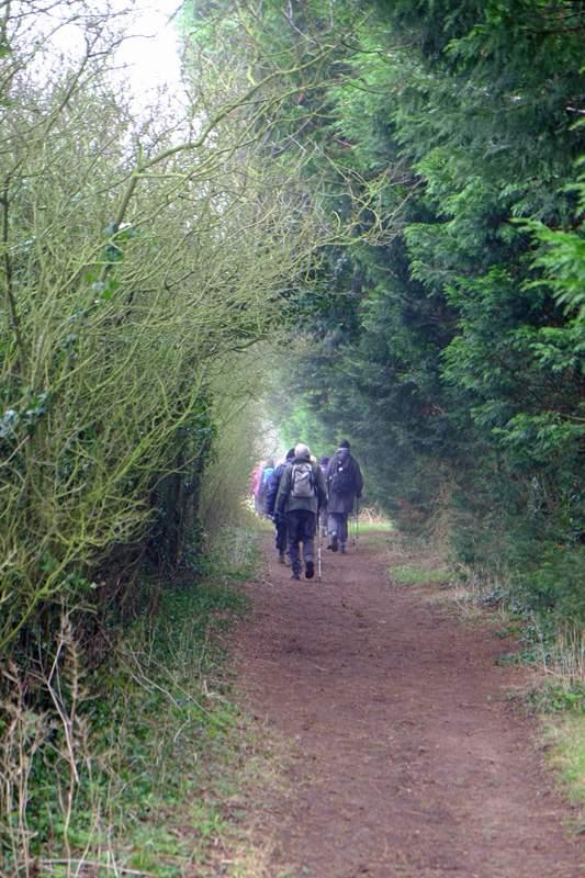 As we follow a lane towards Wallow Green