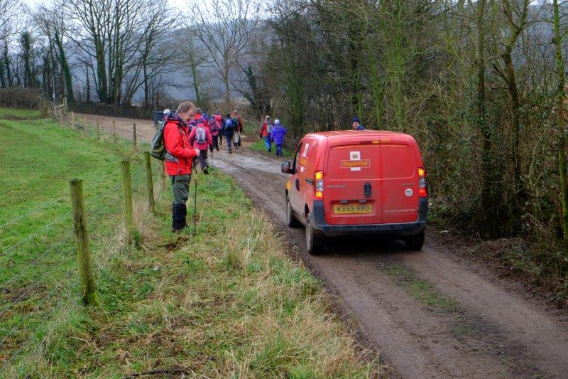 Then a narrow road where we take to the grass verge to avoid the postman