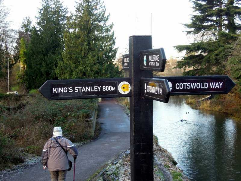 A new smart sign - but which way is the Cotswold Way?