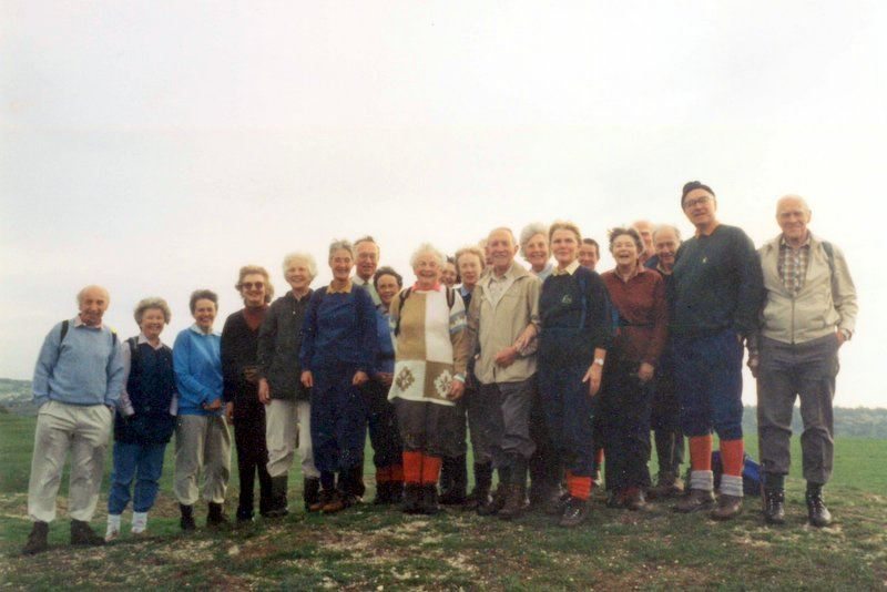 "Selsley Common October 1995 on our book launch. ""Little"" Jim is on the right."