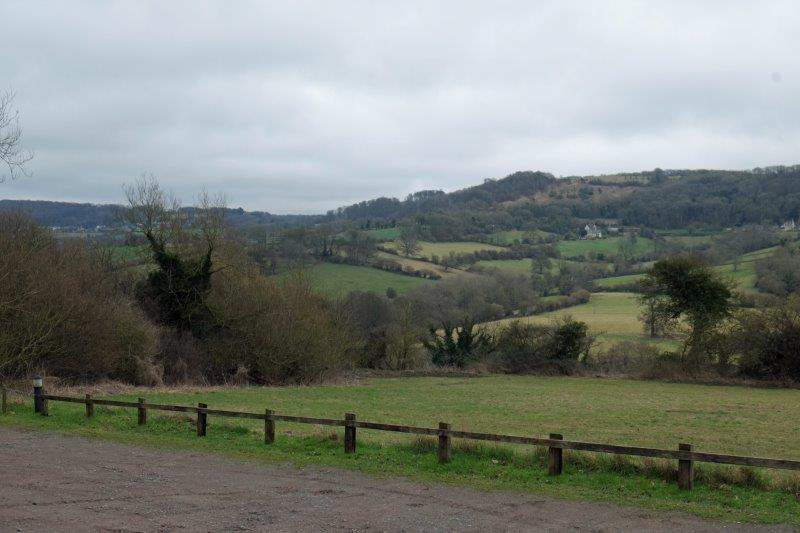 With views across the valley to Swifts Hill