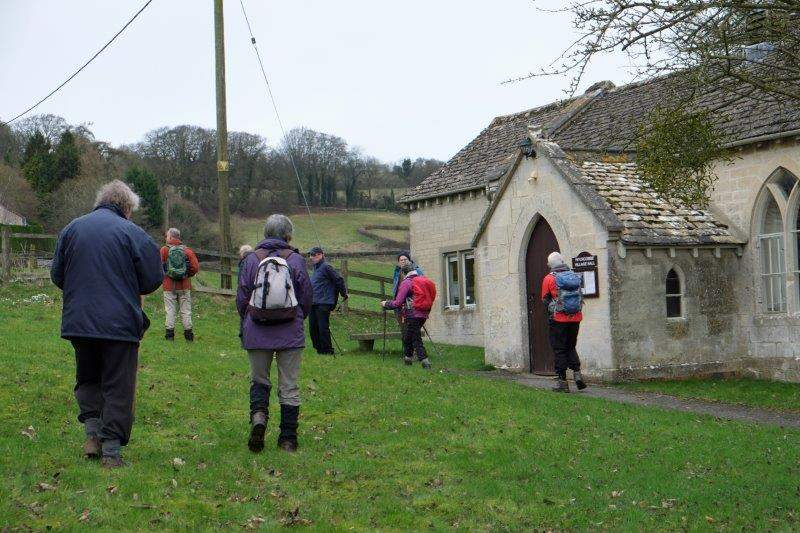We continue round the Church Hall