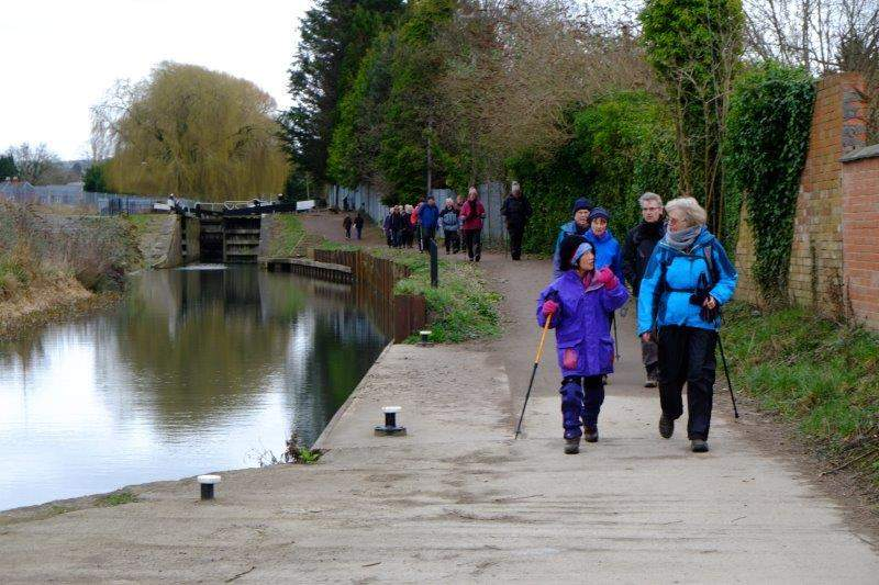 Then head along the towpath