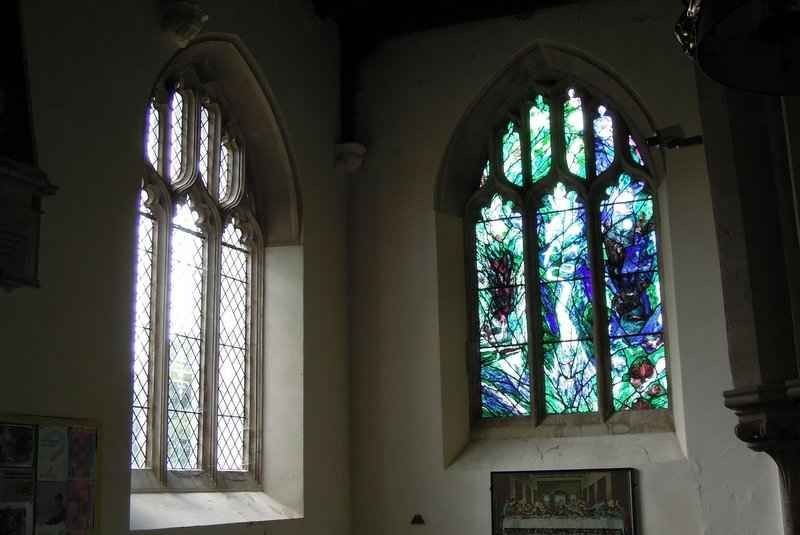 Here's one I took earlier! We decide to leave seeing the Peter Scott stained glass window for  a drier day -  here seen a few years ago