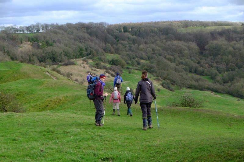 We then follow the ridge