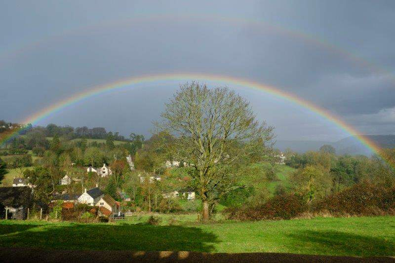 A rainbow framing Pitchcombe