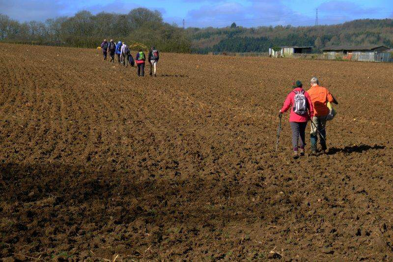 Then through the middle of a ploughed field