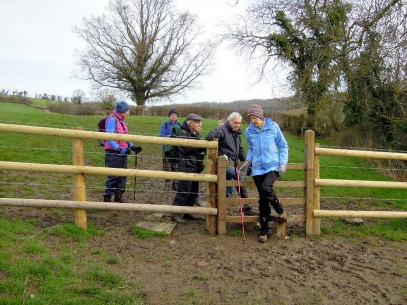 A newer stile, but still the mud!