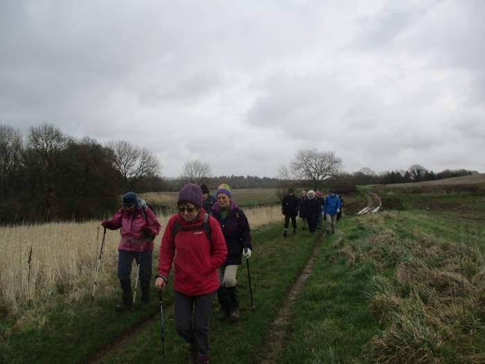 We set off across fields
