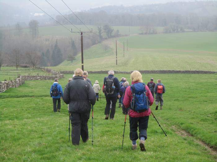 Then follow a track before descending towards Woodchester