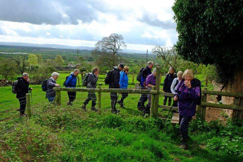 Another queue to cross a stile