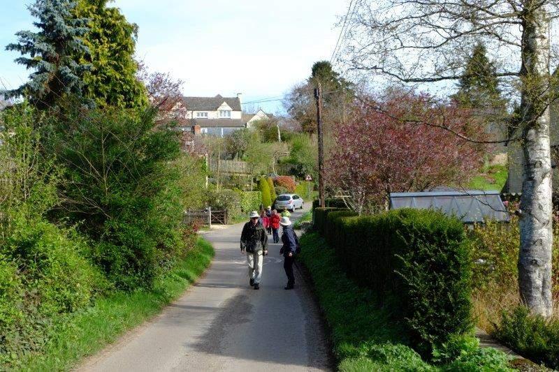 Heading down Stamages Lane