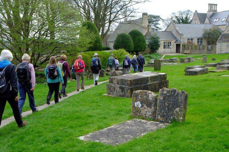 And heading through the churchyard back to the cars