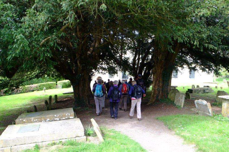 Into Sapperton Church graveyard
