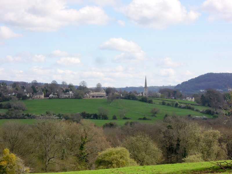 We head back to Painswick, the spire coming into view