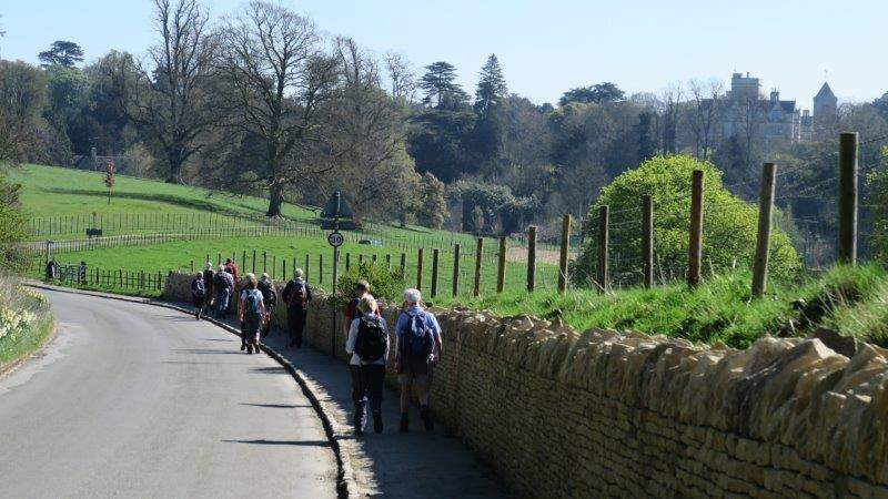 Leaving Coln St Alwyn - Hatherop Castle School off to the right