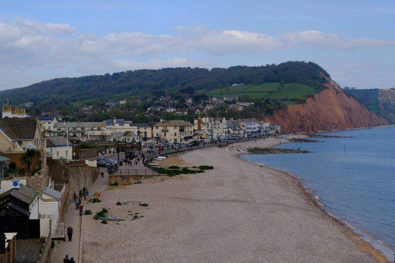 Looking down on Sidmouth