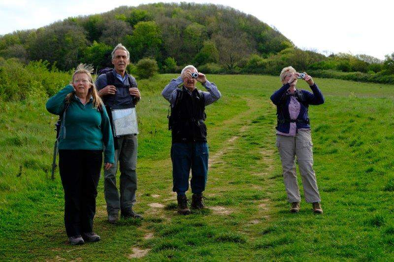 With views of Sidmouth behind us