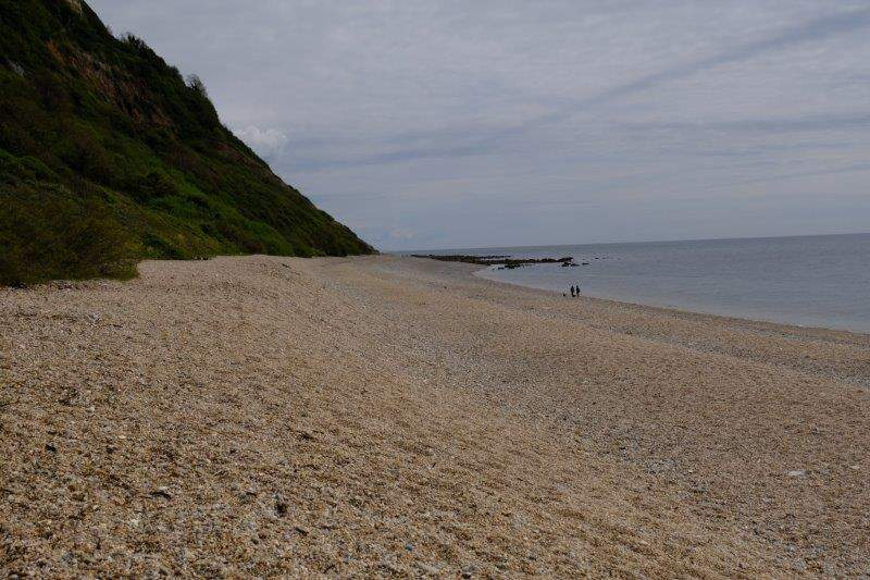 A nudist beach - although sunny, a bit too cold to see any