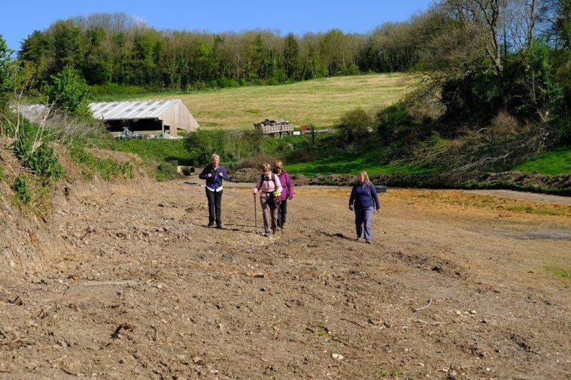Continung round some earthworks