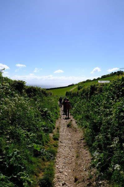 Following the Coast Path upwards