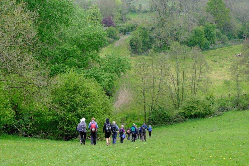 Down into a steep sided valley
