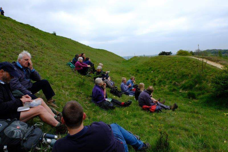 We stop in the shelter of an old quarry for lunch