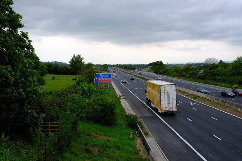 Crossing the motorway