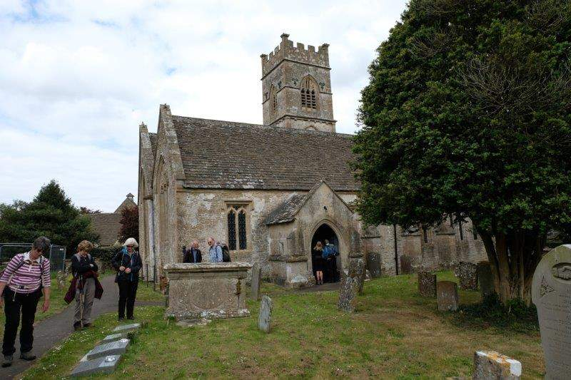 Our route takes us through the churchyard