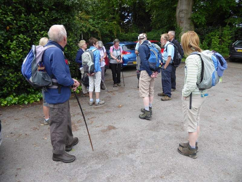 Idsall Drive car park in Prestbury for Sally and Keith's walk.
