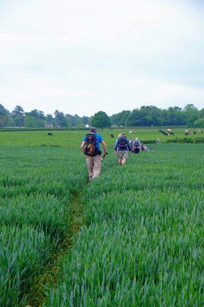 As we cross another field