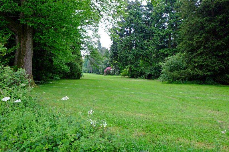 Round the edge of the Arboretum
