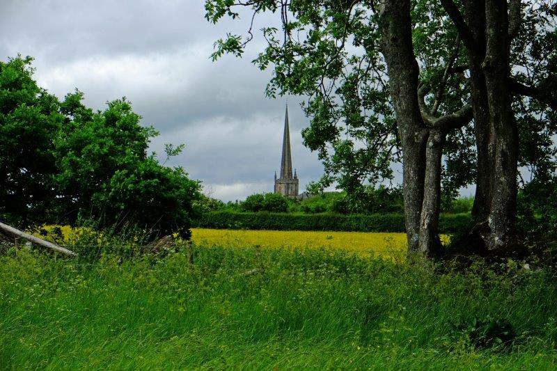 At last the spire of Tetbury Church