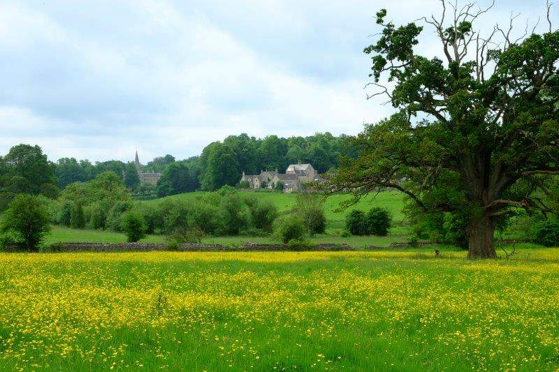 With views back to the village of Sherborne