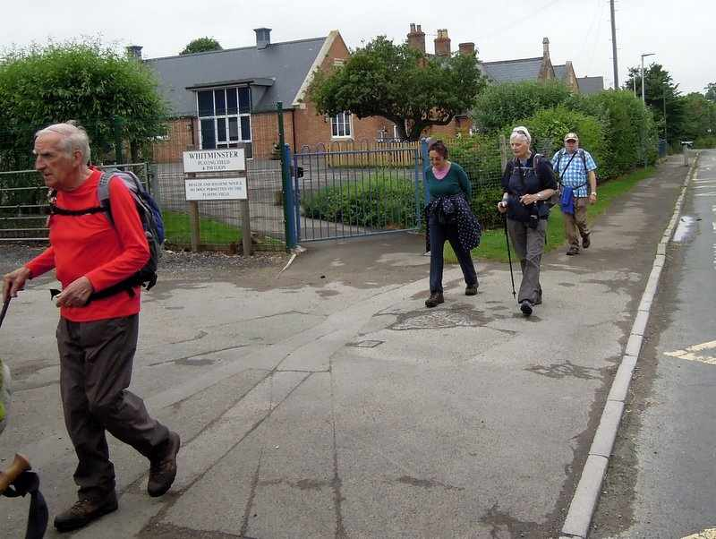 We leave the canal through Whitminster village