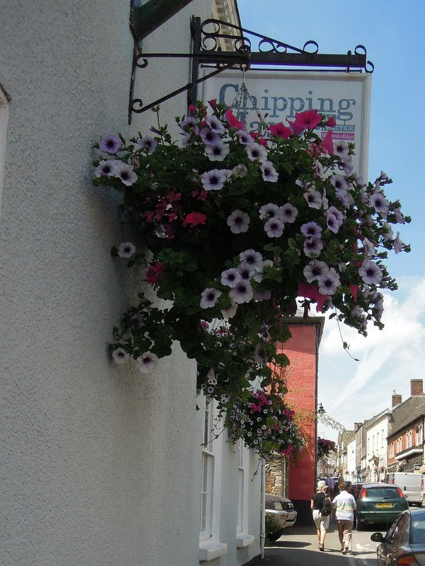 And under attractive hanging baskets