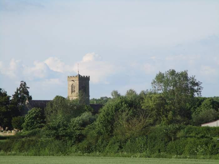 Longney Church ahead