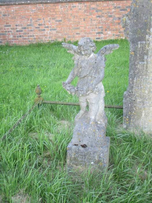 In Longney churchyard we see an angel